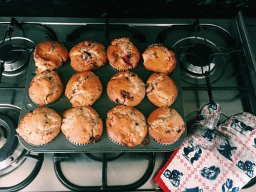 Chocolate and Berry Muffins